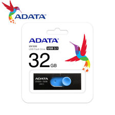 ADATA UV320 32GB USB 3.1 Retractable Capless USB Flash Drive Memory Stick Blue