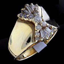 VINTAGE 1970'S 14KT YELLOW GOLD DIAMOND DINNER RING  19 DIAMOND 1 TCW