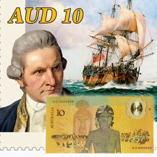 WR Australia 1988 Bicentennial Commemorative $10 Colored Gold Banknote AUD 1PCS