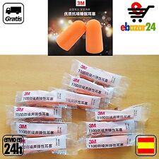 5 pares 10 TAPONES 3M 1100 NARANJAS 31 DECIBELIOS RUIDO ESTUDIAR TAPON concentra