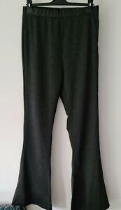 ASOS DESIGN Skinny Flare Split Hem Trousers In GREY ~ NWOT ~ SIZE 14 L 32