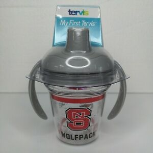 """My First Tervis Sippy Cup NC State """"Wolfpack"""" New With Handles"""