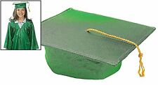 "Child's Green Mortar Board Hard Hat (20"" Circ.) Graduation Mortarboard Cap"