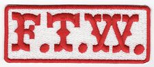 FTW (red/white) Motorcycle Biker Vest Patch