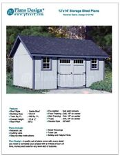 How to Build a Storage Shed 12' x 14' Reverse Gable Roof Style Design # D1214