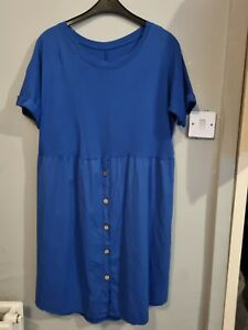 Tshirt Dress Made In Italy One Size (10-18) Bnwt