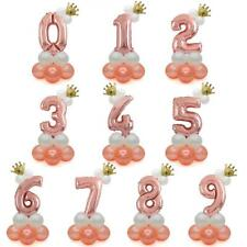 1st / 100 days or AGES Birthday Balloon Rose Gold Large Number Balloon Column