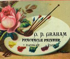1870's-80's O.D. Graham, House, Sign, Carriage Painter, Rochester, NY Card F95