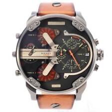 DIESEL DZ7332 Mr Daddy 2.0 Mens Watch Brown Leather Black Dial Chronograph Watch