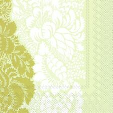Marimekko ANANAS gold paper lunch napkins new 20 in pack 33 cm sq