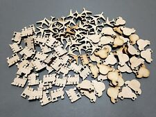 MP7 20mm MDF Cars Trains Laser Cut Wooden Craft Shape Blank Embellishments Sale