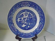 """Blue Willow Pattern Ware Salad Dessert Royal China Plate 9 1/2"""" Blue Stamp"""
