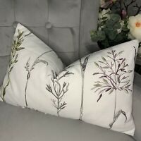 """Beautiful Cushion Cover 12""""x20"""" iLiv Field Grasses / Rose Fabric Embroidered"""