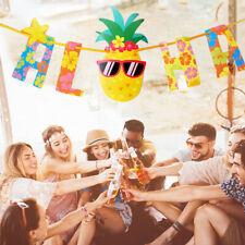 Hawaiian Tropical Pineapple Summer ALOHA Party Banner Garland Bunting Decor New