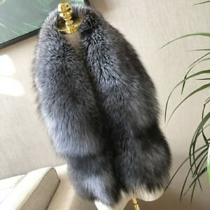 Real Fox Fur Collar Shawl Natural Fox Scarf Neck Fur Muffler Fox Scarves Wrap