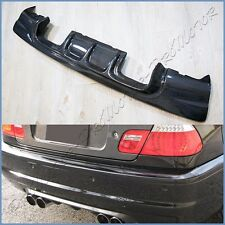 Fit BMW 2001-06 E46 OE M3 Rear Bumper V Look Carbon Fiber Replace Body Diffuser