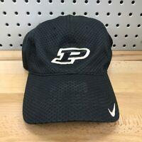 Purdue Boilermakers NCAA College Black NIKE TEAM Full Mesh Hook Loop Hat Cap