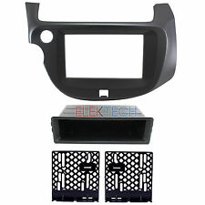 Radio Replacement Dash Mounting Installation Kit 2-DIN w/Pocket for Honda Fit