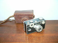 "Vintage Early Model Argus C3 ""Brick"" 35mm Film Rangefinder Camera w/Field Case"