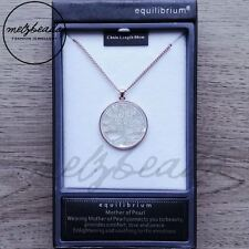 Equilibrium Mother of Pearl Rose Gold Tree of Life Long Necklace Gift Boxed
