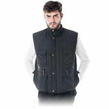 gepolsterte Arbeitsweste mit vielen Taschen Weste Winterweste schwarz M-XXXL