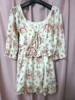Liz Lisa dress floral cute kawaii gyaru lolita hime japan 109 shibuya NEAR MINT