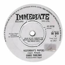 """Chris Farlowe - Yesterday's Papers - 7"""" Record Single"""