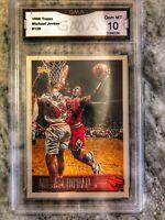 1996 Topps Michael Jordan #139 Graded GEM MT 10 Chicago Bulls Basketball Card