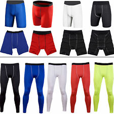 Herren Kompression Baselayer Thermisch Funktionsunterwäsche Tights Shorts Hosen