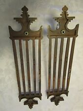 Retro Set 2 Burwood Faux Wood Grain Look Wall Candle Sconce Mid-century Modern