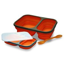Lunch box bento double compartiment silicone rétractable