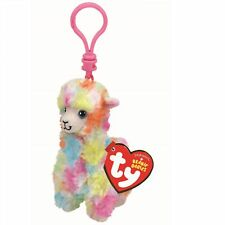 Ty Beanie Babies 36601 Lola the Colourful Llama Alpaca Key Clip