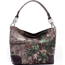 New Realtree Camouflage Camo Women Leather Purse Tote Bag Handbag Shoulder Bag