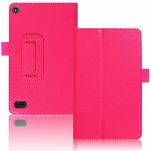 """New Amazon Fire 7"""" (2017) Case, 7th Generation Folio Leather Smart Stand Cover"""