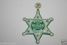 Rare Original Vintage Pat Hogan Kid Toy Tin Jr. Sheiriff Badge 27 Years Hartford