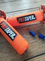 Trials Motocross Pro Taper Grips orange, With Free Dust Caps