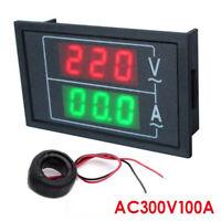 LED Digital Voltmeter Spannungsanzeige Amperemeter Strommesser AC 300V 0-100A