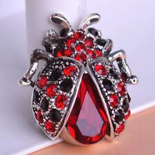 Brooches Bouquet Antique Brooch Pins Insects Beetle Ruby Stylish Jewelry Crystal