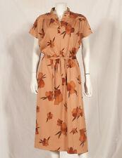 'YVES DAINCOURT' 70'S FRENCH VINTAGE PRINT DRESS UK 12/14