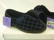 Mens Gents Slipper Velcroish Washable Wide Fit Adjustable Care Home OAP UK SIZE