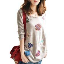 Vêtements t-shirts à motif Brodé à manches longues pour fille de 2 à 16 ans