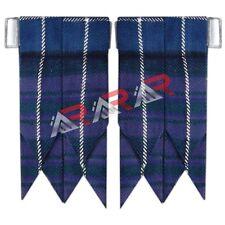 Kilt Flashes Stewart Color Pride of Scotland Tartan with Heavy Buckle Brand AAR