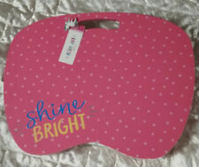 """NEW Cute Lap Desk Fits Upto 14"""" Laptop Wooden Top Microbead Cushion Shine Bright"""