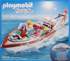 Playmobil 9428 Motorboot mit Unterwassermotor Wakeboard Kühltasche Familie NEU