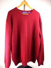 Alan Flusser Mens Sweater XL Pullover Red Crewneck Long Sleeve 100% Cashmere
