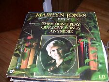 MARILYN JONES-THEY DON'T PLAY OUR LOVE SONGS ANYMORE-LP-VG+-UA-CDN.TALENT LIBRAR