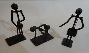 Vintage Black Metal Art Sculpture Ornament Nuts Bolts Handmade by E. W. Ponting