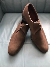 New Alfred Sargent for Sid Mashburn Mens Shoes UK 11.5  Chocolate Brown Suede