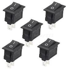 5Pcs 2 Pin Snap-in On/Off Position Snap Boat Rocker Switch 12V/110V/250V MKLG