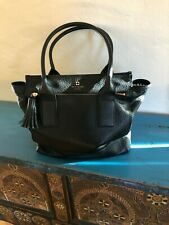 KATE SPADE  Black Pebbled Leather Large Shoulder Bag Tote Purse